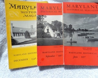 Three months of Maryland Historical Magazine/December 1946/September 1957/ and June 1957