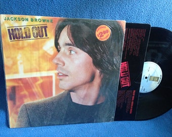 "Vintage, Jackson Browne - ""Hold Out"", Vinyl LP, Record Album, Original 1980 Press, The Girl Could Sing, Boulevard, Call It A Loan, Rock"