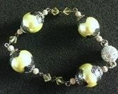 Lime Green Beaded Bracelet