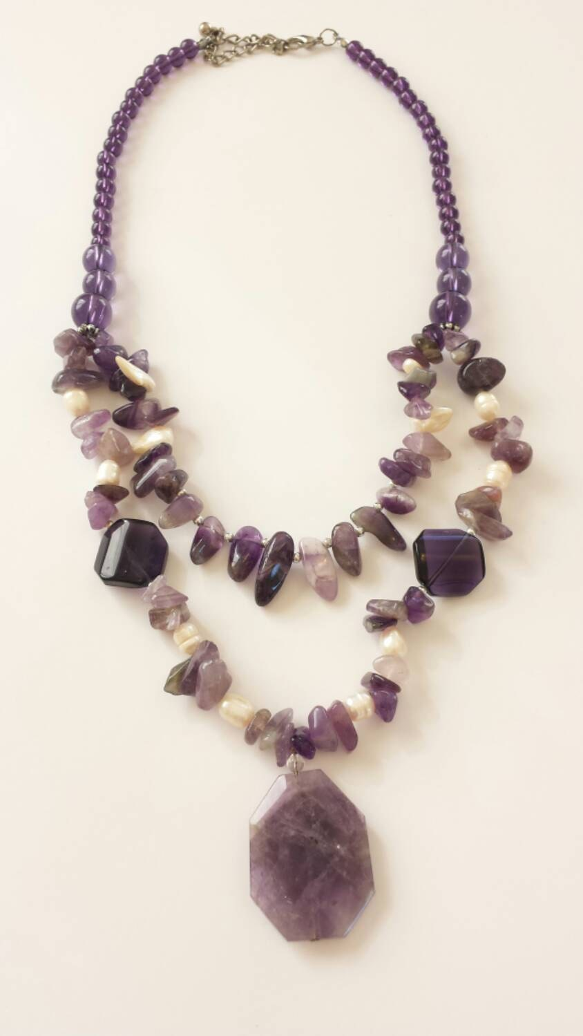 amethyst stone necklace - photo #21