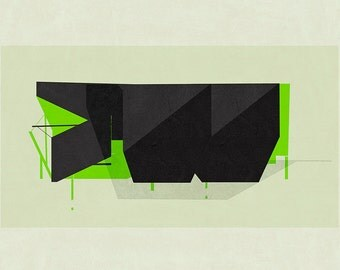 Abstract composition 719 - modern art - minimalism - 84 x 60 cm - A1 - Limited edition