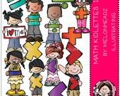 Math Kidlettes clip art - Combo Pack