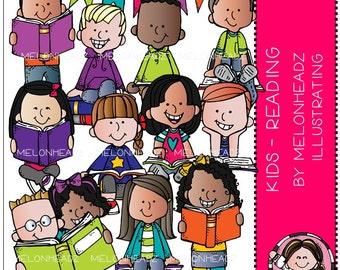 Reading clip art - Kids - Combo Pack