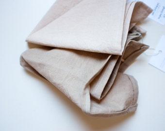Organic cotton hand dyed reusable napkins - pack of two