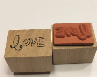 small Love rubber stamp, 20 mm (A11/3)