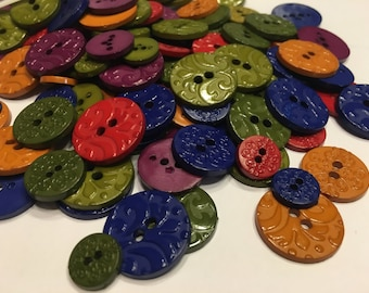 20 designed assorted acrylic button mix, 12-20 mm (B11)