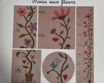 Jardin Prive French Cross Stitch Chart, Toise aux fleurs, Flowers