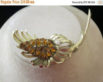On Sale Coro Golden Rhinestone Pin Item K #236