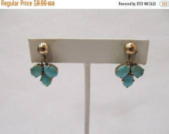 On Sale Vintage 12kt Gold Filled Turquoise Dangle Earrings Item K # 1457