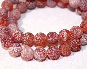 50pc Sandy Brown Bead/ Loose Glass beads/ Bracelet beads / Necklace Beads/8mm/Crackle beads