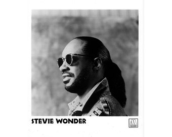 Stevie Wonder Publicity Photo Black and White