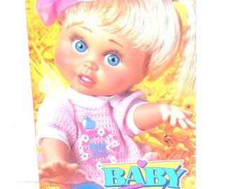 Vintage 1990 Galoob Baby Face Doll So Innocent Cynthia in box, Antique Alchemy