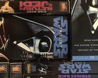 1995 VHS Star Wars Trilogy Set, In Colour, Lucas Films Antique Alchemy