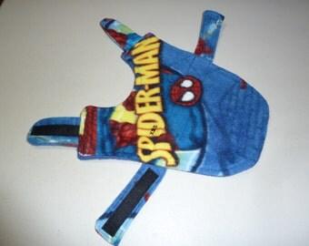 XXS Spiderman Fleece Dog Coat, Marvel Comics Jacket (Extra Extra Small)