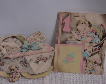 Vintage Victorian Used Baby Cards. Welcome Baby. Victorian baby ephemera