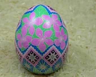 Apple Blossom Basket Ukrainian Egg