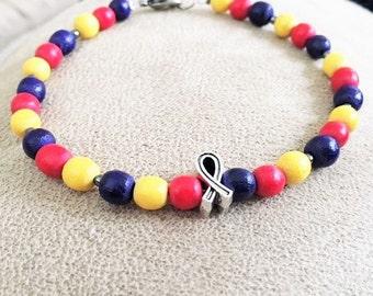 Father's Day Gift, Men's Autism Awareness Bracelet Unisex jewelry
