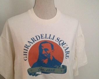 Vintage Ghiradelli Square San Francisco Tshirt