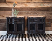 2 Black French Provincial End Stands