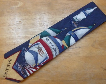 Regatta Sailing Sailboat silk necktie by Stars and Stripes