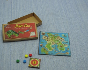 Gaël Miniature Vintage Game  Vintage 1953 Peter Pan Board Game    1:12 Scale Dollhouse Miniature accesories