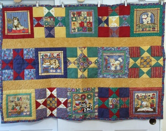 Quilted Throw Cats Cooking