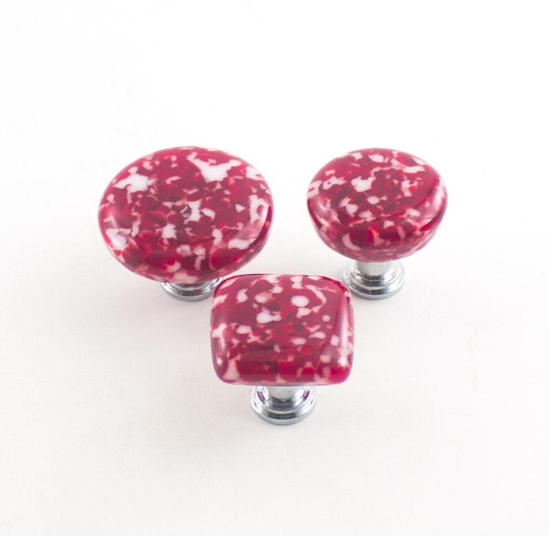 Modern kitchen cabinet knobs red drawer pulls cool door - Red kitchen cabinet knobs ...