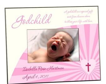 Personalized Godchild Pink Photo Frame