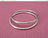 ON-SALE TWO Stackable Ring - Barely there Ring, Thin band Ring, Sterling Silver Ring
