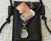 Leather Pouch Medicine Bag Crystal Bag with Crystals