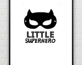 Little Superhero print
