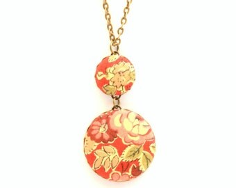 Liberty of London Large Pendant Necklace in Tatum Red