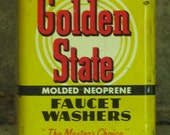 Never Opened -- GOLDEN STATE Faucet Washers Tin