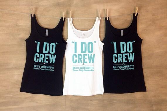 6263f4440d99a I Do Crew Bachelorette Bash Personalized Bachelorette Party Shirts - Sets. I  ...