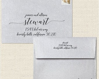Custom Wedding Digital Calligraphy Envelope Addressing Printing - Contemporary