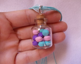 necklace, macarons