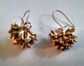 Gold- dipped Lichen Earrings