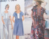 Easy Pullover Dress Three Lengths Raised Waist Simplicity Pattern 9598  Size XS-M Uncut Pattern