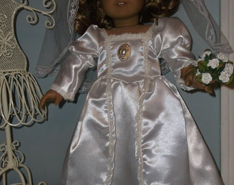 18 Inch Doll First Communion or Wedding dress and veil by Project funway on Etsy