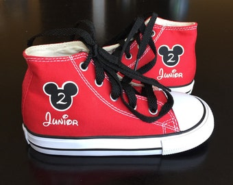 Mickey Mouse Shoes - Birthday Mouse Ears Shoes - Mickey Birthday Shoes