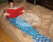 Crochet Mermaid Tail Afghan Custom