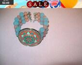 SALE 60% Off Vintage beaded flower bracelet