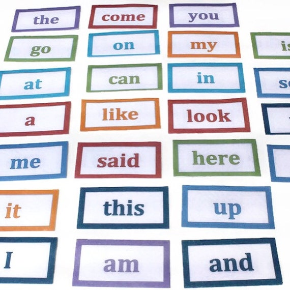 kindergarten sight words flash cards teaching aid