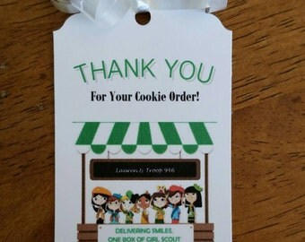 Girl Scoot Cookie Tags