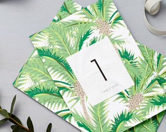 Tropical Design Wedding Table Numbers