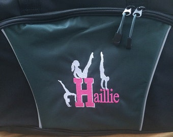 Monogrammed duffle perfect for tons of activities