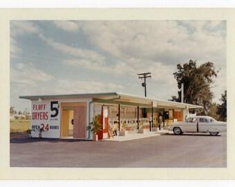 Vintage photograph 50's Laundromat Altered Art