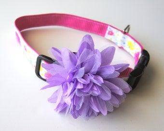 Large Lavender Chiffon Flower Dog Collar Attachment