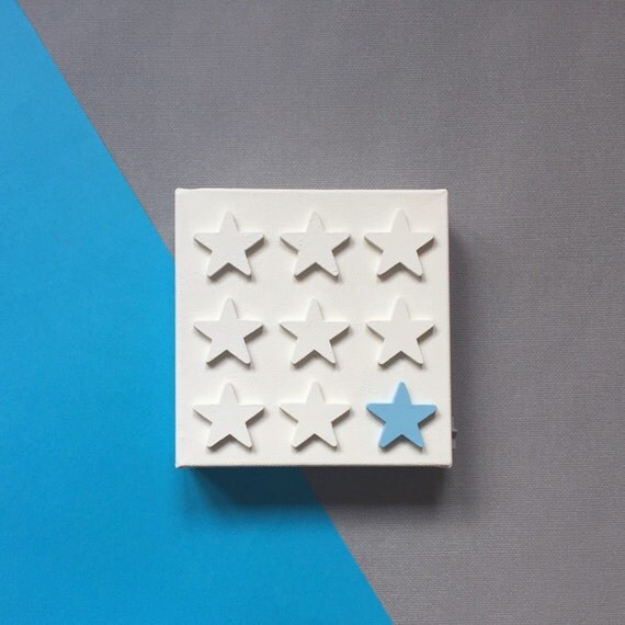 Blue Star Wall Decor : Baby blue star nursery decor d wall by