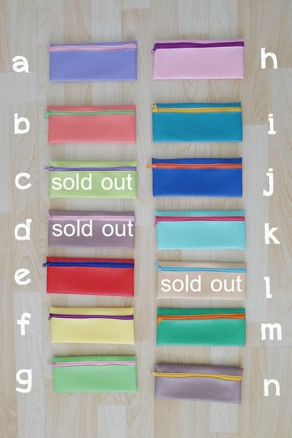 PVC zipper pencil case, pencil pouch, pencil bag, glasses case, wallet,  rectangle shaped, waterproof -  colourful